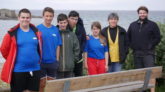 L'équipe sport-partagé tennis de table: Clément, Baptiste, Maxime, Hugo et Sarah