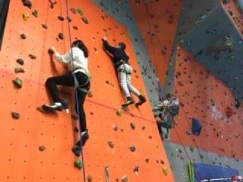 Trois élèves de 5°1 en pleine action.