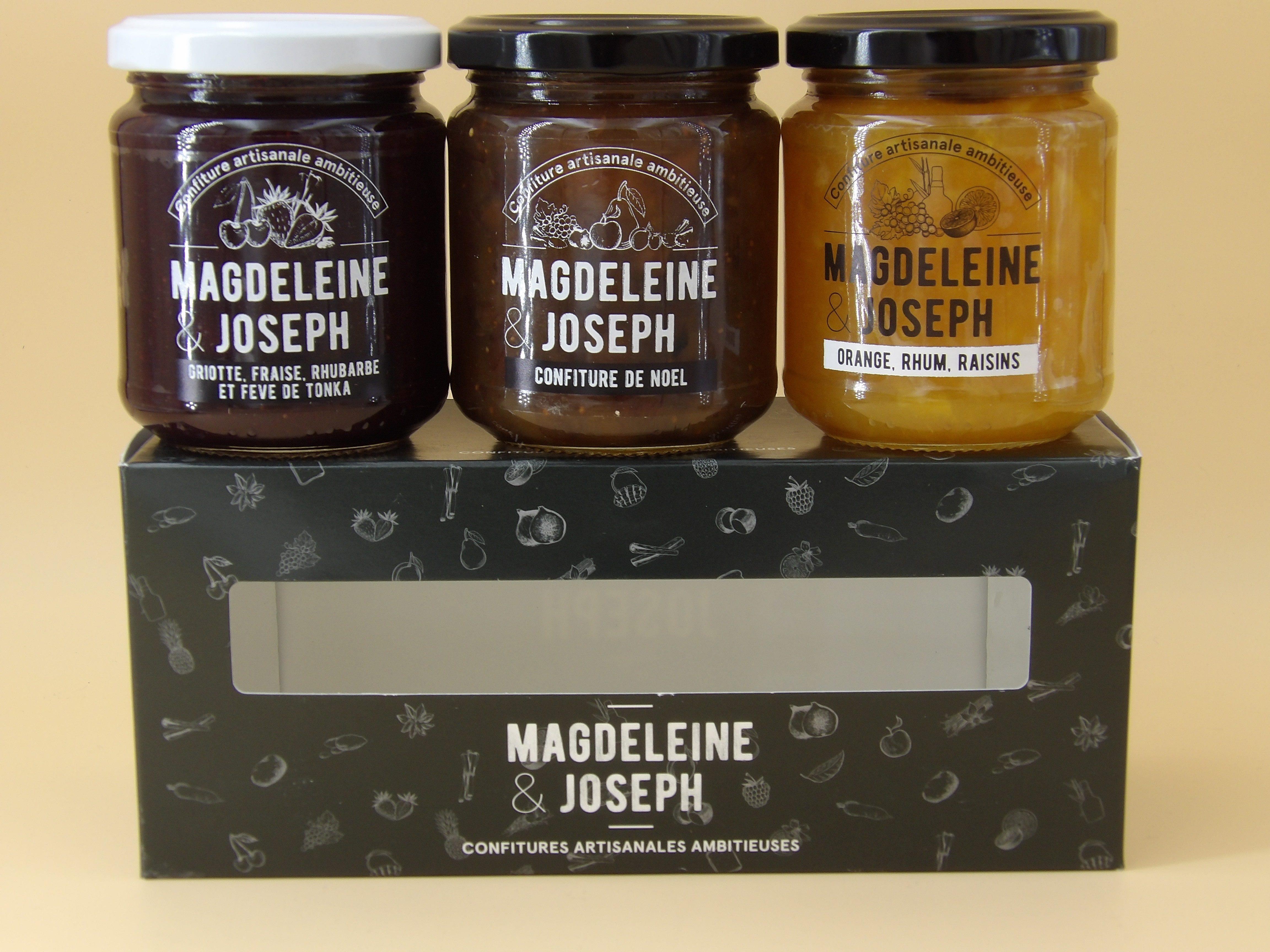 """nouvelle gamme de confiture : """"Magdeleine et Joseph"""" les ambitieuses"""