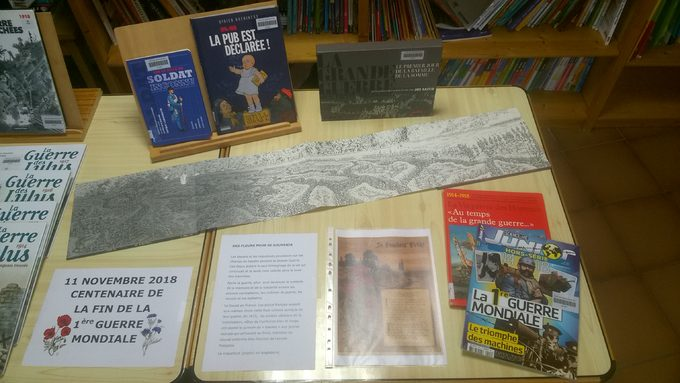 1ère partie de la table dédiée à la 1ère Guerre Mondiale, documentaires
