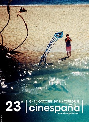 Affiche Festival Cinespaña: Mer, sable, enfant, cerf volant